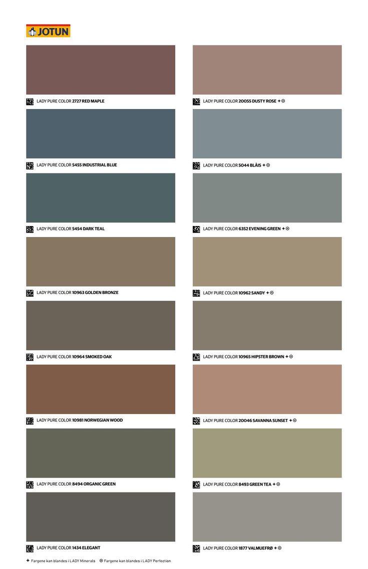 Jotun Lady Det Nye Fargekartet 2018 In 2020 Paint Colors For