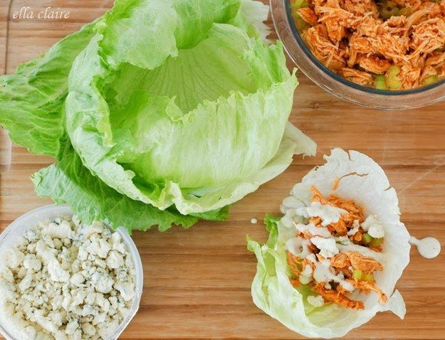 Buffalo Chicken Lettuce Wraps | 23 Low-Carb Lunches That Will Actually Fill You Up