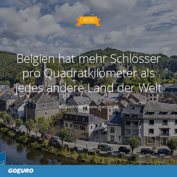 #TravelTrivia #174: #Belgien hat mehr Schlösser pro Quadratkilometer als jedes andere Land der Welt