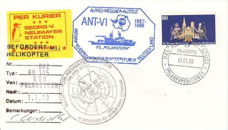 Antarctic FS Polarstern Helikopter 1987-1988