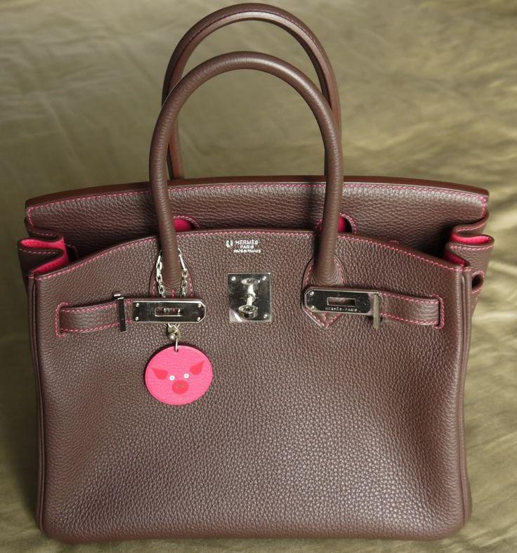 Mocha/RS Togo Birkin 30 w/ PHW \u0026amp; Contrast Stitching | Bags ...
