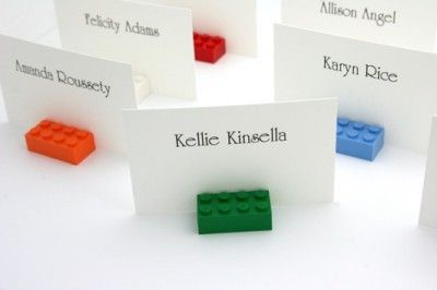 Lego Place Cards - http://www.toptableplanner.com/blog/lego-wedding-seating-plans