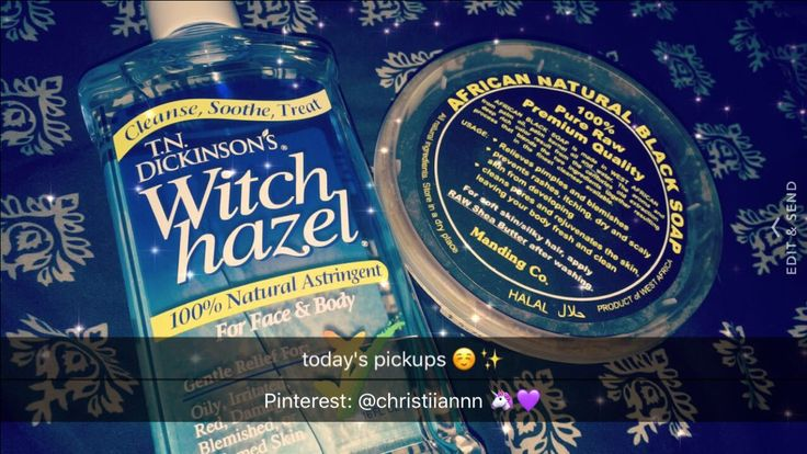 Witch hazel & African black soap Pinterest: @christiiannn