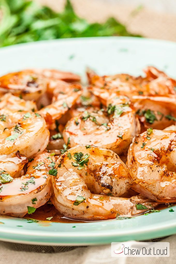 This Spicy, Buttery Asian Grilled Shrimp is succulent, savory, and buttery. The sauce is awesome, so drizzle it on! Everyone will love this tender shrimp.