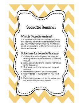 SOCRATIC SEMINAR STUDENT AND TEACHER GUIDE - TeachersPayTeachers.com