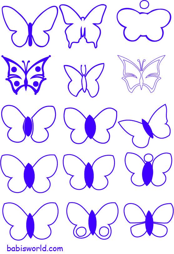 free moldes de borboletas em formato pdf Moldes de Borboletas