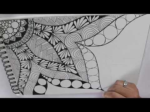 Zentangle Art For Beginners Doodle Patterns Zen Doodle Youtube Zentangle Patterns Zen Doodle Patterns Doodle Art For Beginners