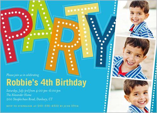 17 Best images about Photoshop – Children Birthday Invitation Card