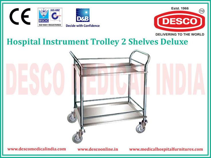 We present an unique range of Hospital Utility Trolleys & Carts in India such as Instrument Trolley, Two Sheleve Instrument Trolley, Three Sheleve Instrument Trolley and many more. These can be acquired at cost effective price from us.