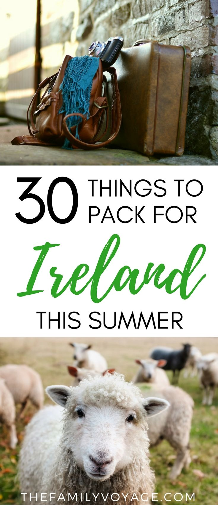 Traveling to Ireland this summer? Check our our ultimate packing list to lighten your load whether your visiting Dublin, Kerry or other beautiful areas. Our travel capsule wardrobe for Ireland has you covered for city exploring and romping around outdoors! What to pack for Ireland in June | Ireland travel capsule wardrobe for summer trip to Europe #Ireland #travel #packinglist #capsulewardrobe