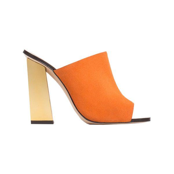 Orange Zara Mule Sandals