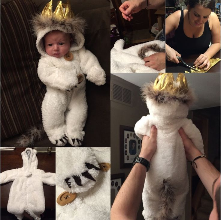 havens diy max from where the wild things are costume snow suit bought at babies r us crown made out of gold fabric sewed up stuffed with - Max Halloween Costume Where The Wild Things Are