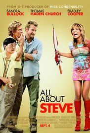 Watch All About Steve Online For Free. Convinced that a CCN cameraman is her true love, an eccentric crossword puzzler trails him as he travels all over the country, hoping to convince him that they belong together.