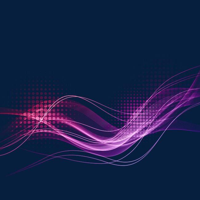 خطوط الموجة الأرجواني تأثير الضوء Waves Line Wave Illustration Graphic Design Background Templates