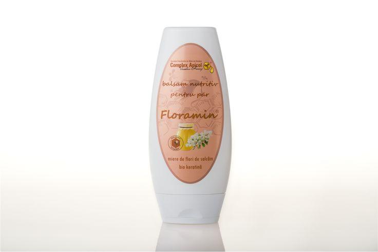 Acacia honey and bio keratin conditioner Floramin balsam nutritiv pentru par