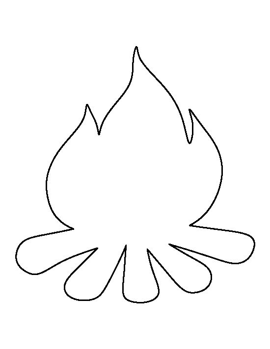 Campfire pattern. Use the printable outline for crafts, creating stencils, scrapbooking, and more. Free PDF template to download and print at http://patternuniverse.com/download/campfire-pattern/