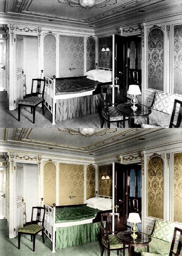 titanic in color first class cabin