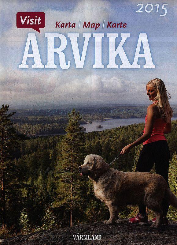 Arvika Karta Map Karte 2015; Värmland, Sweden tourism travel brochure | by worldtravellib World Travel library