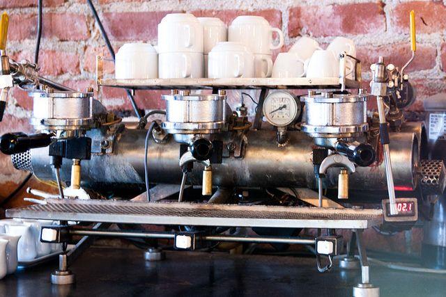 Custom Espresso Machine @ Diavola, Geyserville, CA by RadioGastronomy, via Flickr