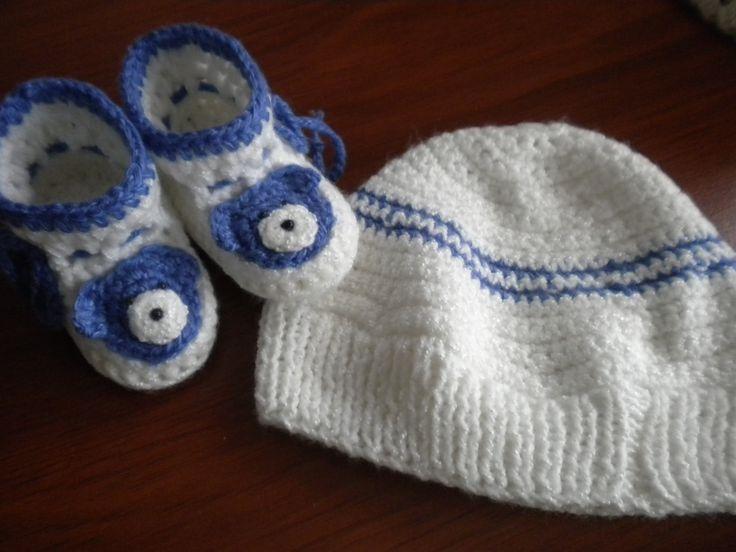 patines y gorro a crochet