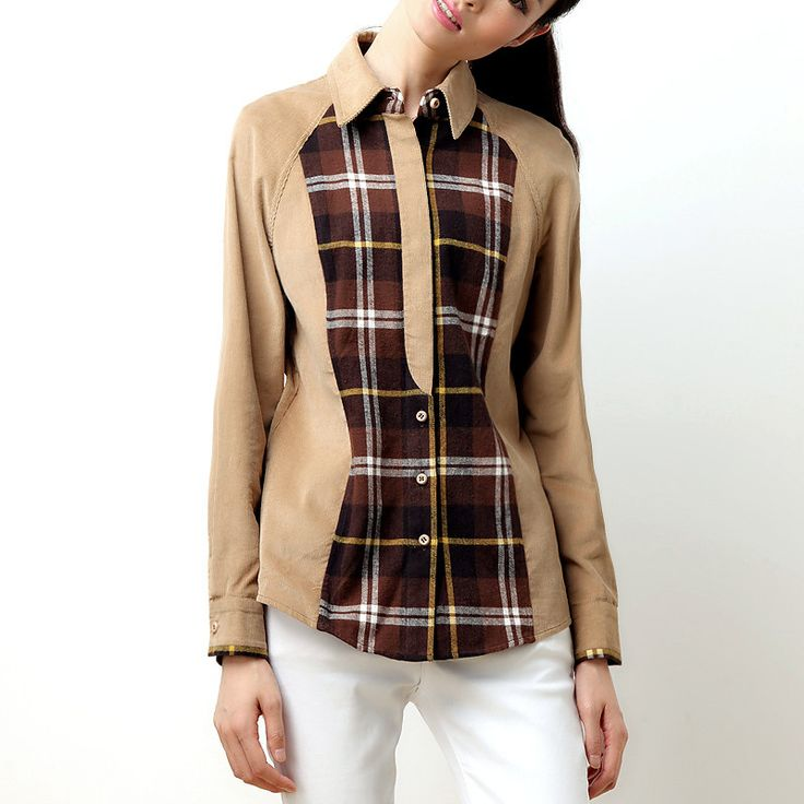 Now available at DIGDU: Veri Gude Spring ... Check it out here! http://www.digdu.com/products/veri-gude-spring-and-autumn-women-british-style-corduroy-plaid-patchwork-shirt?utm_campaign=social_autopilot&utm_source=pin&utm_medium=pin