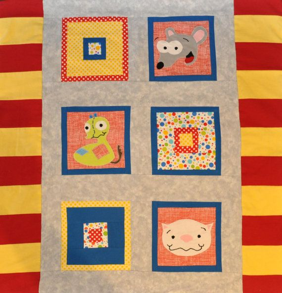 Toopy and Binoo Quilt! This adorable Toopy and Binoo baby or toddler blanket is perfect for the little fan of the show.