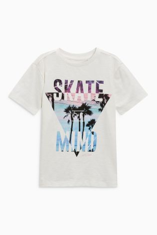 3c512dd7 Buy White Skate Of Mind T-Shirt (3-16yrs) from the Next UK online shop