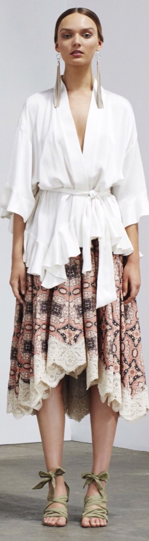 Zimmerman Resort 2016 . Both skirt and blouse are full of gathered fabric