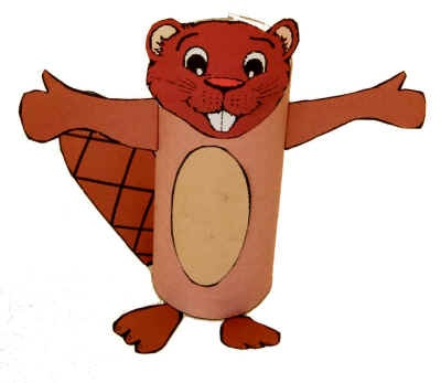 Toilet Paper Roll Beaver from DLTK's Crafts for Kids