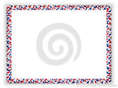 Frame and border of ribbon with the Panama flag. 3d illustration.