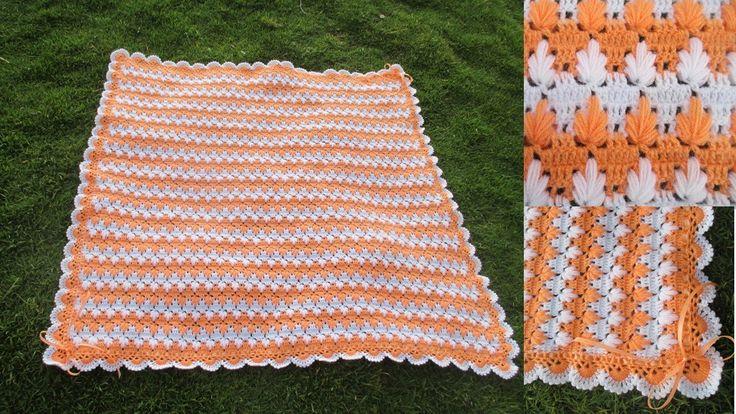Colchita o mantita para bebe tejido a crochet paso a paso - Colchas de crochet paso a paso ...