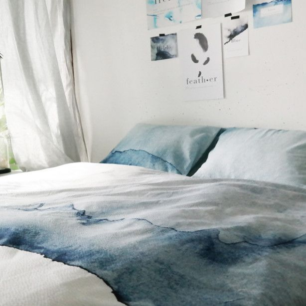 I can't decide if these ombre sheets are beautiful or look spilled-on.