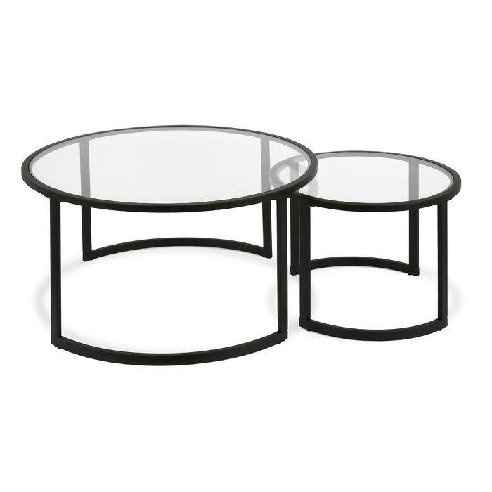 Mitera 2 Piece Coffee Table Set Coffee Table Nesting Coffee