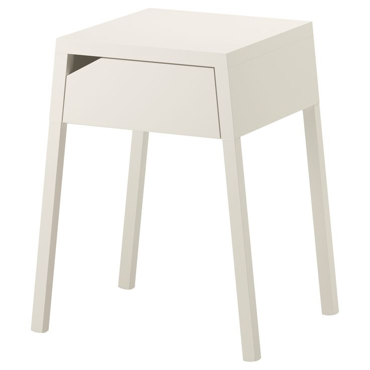 SELJE Nightstand - IKEA. $29.99 I really prefer the turquoise one, but not with our new grey-purple bedroom paint...