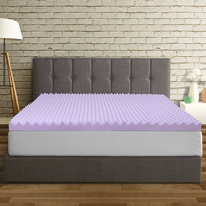 Best Price Mattress Queen Mattress Topper 3 Inch Egg Crate Memory Foam Bed Topper With Lavender Cooling Mattress Mattress Topper Queen Mattress Mattress Pad
