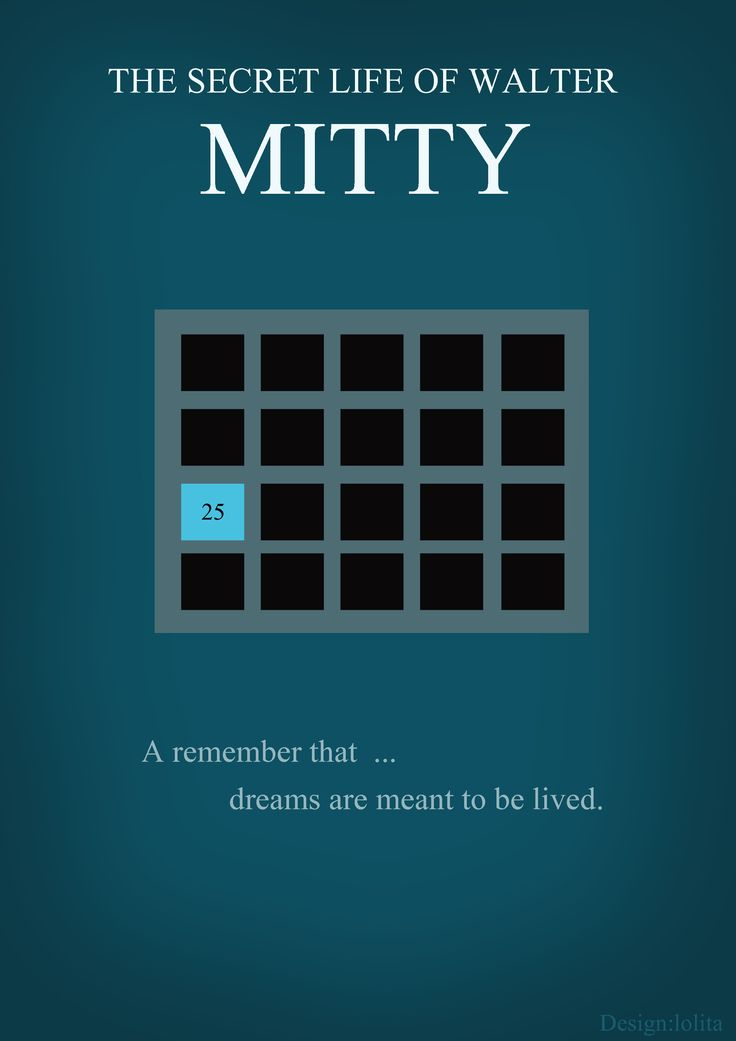 The secret life of walter mitty movie poster minimal version