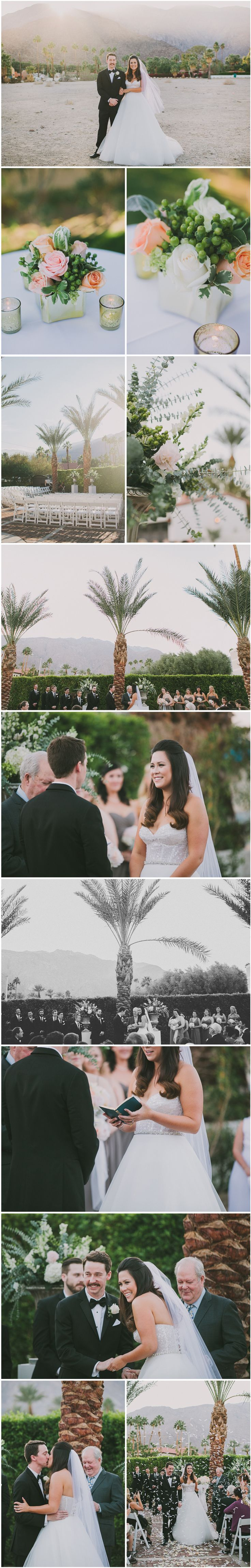 Sarah + Ben Charles Farrell Compound Estate Palm Springs Wedding 3