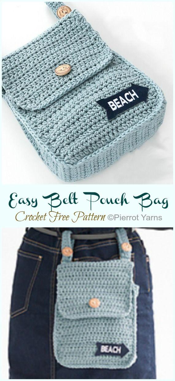 Easy Belt Pouch Bag Crochet Free Pattern