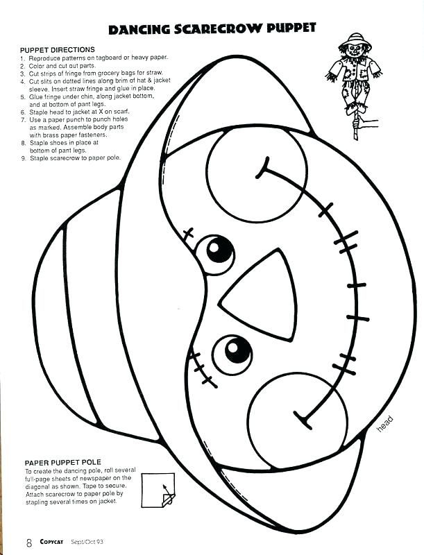 Free Printable Halloween Coloring Pages For Kids Scarecrow Face Scarecrow Crafts Halloween Coloring Pages