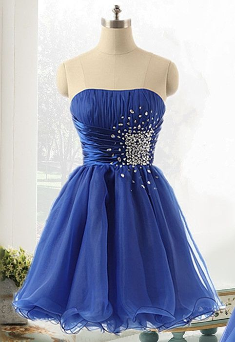 Sweetheart Strapless Homecoming Dresses,A-Line Homecoming Dresses,Beading Homecoming Dresses,Short Prom Dresses