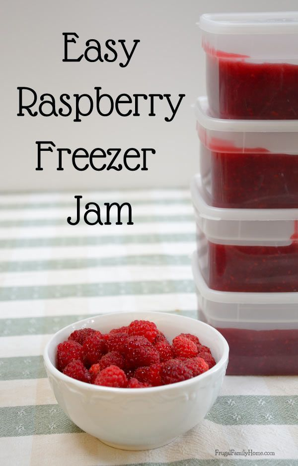 Easy raspberry jam recipes
