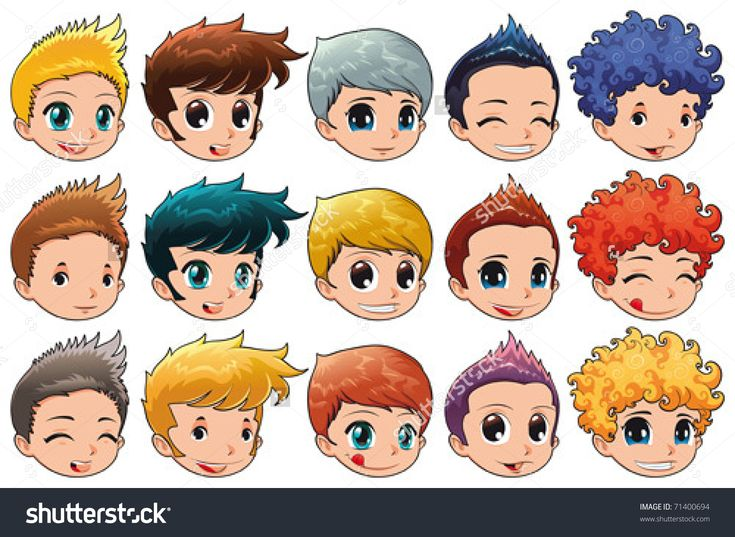 curly hair cartoon ideas