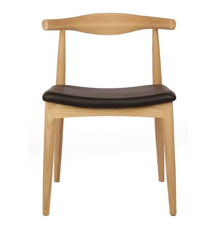 Furnish.com.au - Hans Wegner Elbow Replica Chair, Natural Ash Frame and Black PU Leather Seat, $229.00 (http://www.furnish.com.au/dining/dining-chairs/hans-wegner-elbow-replica-chair-natural-ash-frame-and-black-pu-leather-seat/)