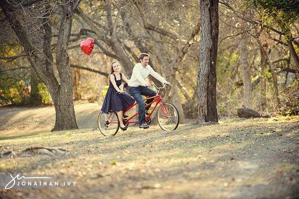 Tandem Bike Engagement Shoot #wedding