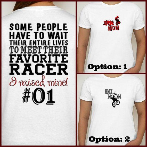 BMX Mom t-shirt  Proud BMX Rider racer mom by DesignsbyJackelyn