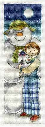 In The Moonlight - The Snowman and The Snow Dog Bookmark Cross Stitch Kit by DMC