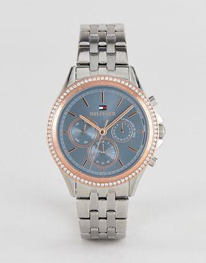 4fef264ea793 Серебристые часы-браслет 40 мм Tommy Hilfiger Ari   Аксессуары