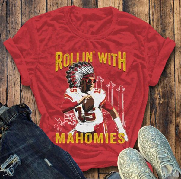 more photos 5d34d 9050b Patrick Mahomes Shirt Rollin With Mahomies Unisex Heavy ...