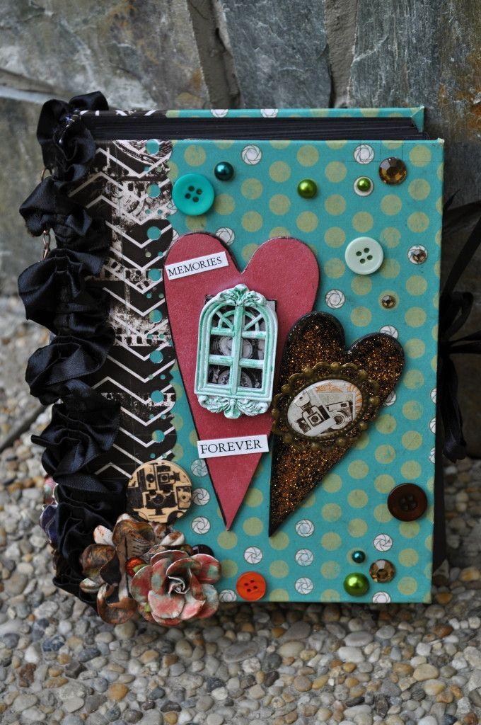 Handmade mini album about Prague