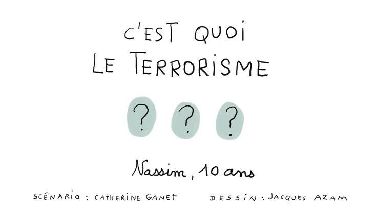 """1jour1question répond aux questions d'enfants. Aujourd'hui : """"C'est quoi, le terrorisme?"""" Chaque épisode d'1jour1question…"""
